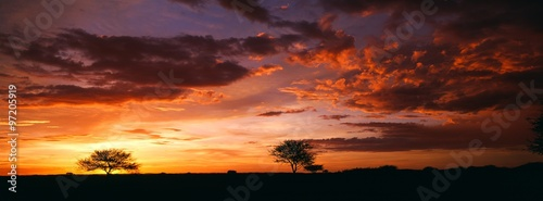 Foto op Canvas Rood paars sunset