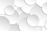 Abstract paper circle design silver background texture.