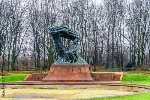 obraz lub plakat Frederic Chopin monument in Lazienki Park. Warsaw. Poland.