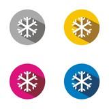 Icono copo de nieve COLORES BOTÓN SOMBRA