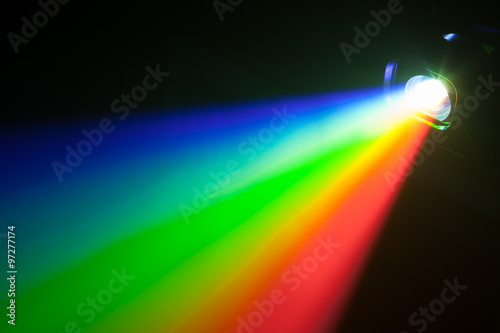 Poster rgb spectrum light of projector