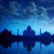 Taj Mahal Agra India on night