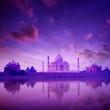 Taj Mahal Agra India on twilight