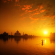 Taj Mahal Agra India on sunset