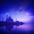 Taj Mahal Agra India on blue hour