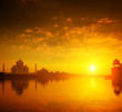 Taj Mahal Agra India sunset
