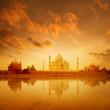 Taj Mahal Agra India on sunrise