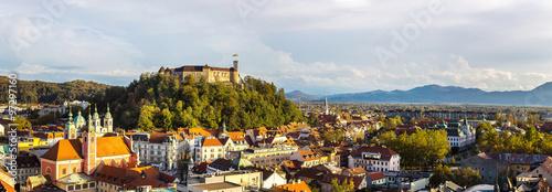 Keuken foto achterwand Noord Europa Aerial view of Ljubljana in Slovenia