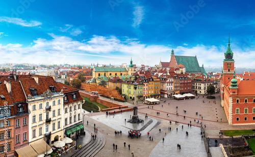 Zdjęcia na płótnie, fototapety na wymiar, obrazy na ścianę : Panoramic view of Warsaw