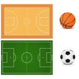"""""""Soccer ball, running shoes, playground"""" Stock image and ..."""