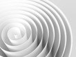 White 3d spiral made of paper tape