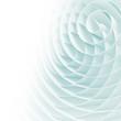 White 3d spirals with soft light blue shadows