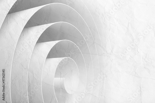 Fototapeta 3d spiral made of paper tape with texture
