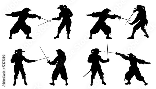 musketeer duel silhouettes