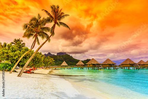 mata magnetyczna Bora Bora, French Polynesia.
