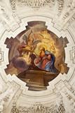 Palermo - Annunciation fresco in church La chiesa del Gesu