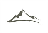 mountains abstract illustration logo