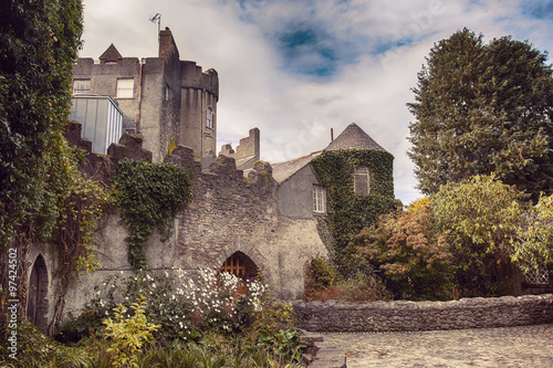 Malahide castle by autumn Poster