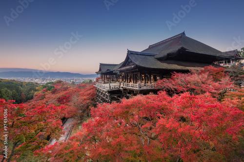 Deurstickers Kyoto 秋の清水寺