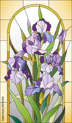 Naklejka Stained glass pattern for a window