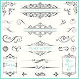 Ornate Frames and Scroll Elements