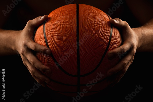 Aluminium Basketbal Basketball ball in male hands