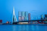 Erasmusbrug bridge view at evening in Rotterdam