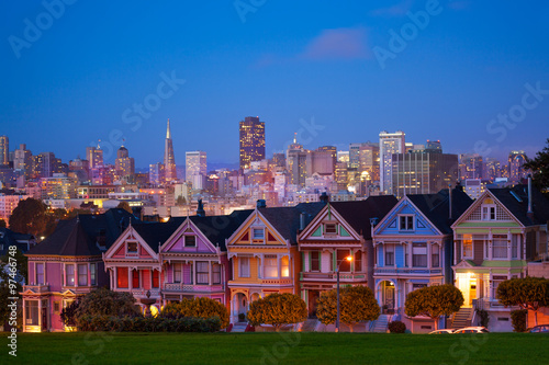 San Francisco night view from Painted Ladies Poster