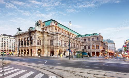 Deurstickers Wenen Vienna Opera house, Austria
