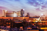 Fototapety Warsaw Skyline at Twilight