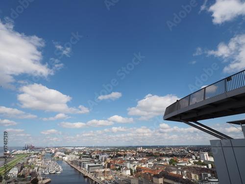 Poster Bremerhaven Aussichtsplattform
