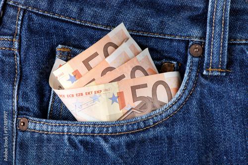 Poster Geld in der Tasche