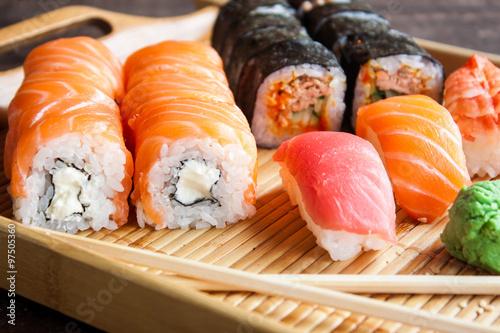 Poster Japanische Sushi-Set