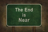 """The End is Near"" roadside sign illustration"