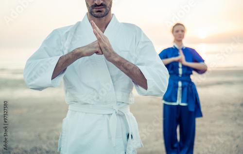Martial arts greeting buy photos ap images detailview martial arts greeting m4hsunfo