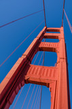 Close-up of the south tower of the Golden Gate Bridge in San Francisco - 97528127