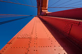 Close-up of the south tower of the Golden Gate Bridge in San Francisco - 97528361