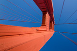 Close-up of the south tower of the Golden Gate Bridge in San Francisco - 97528513
