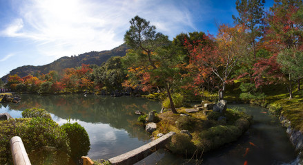 Panorama view of Tenryu-ji garden © Peera