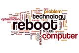 Reboot word cloud concept