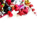 Christmas decoration for celebrating isolated white background