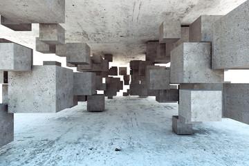 Abstrakcyjne geometryczne 3d do salonu