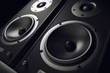 Fototapety Sound speakers close-up. Audio stereo system. 3d