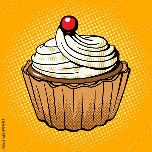 Fototapeta Cake pop art style vector