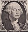 George Washington portrait on the us one dollar bill macro, united states money closeup