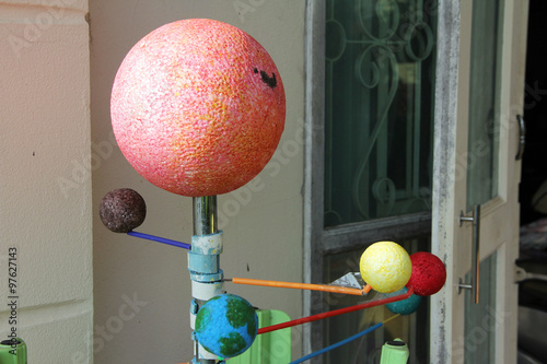 Poster Solar system / A model of solar system, home-made