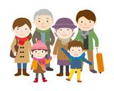 家族旅行 冬 3世代