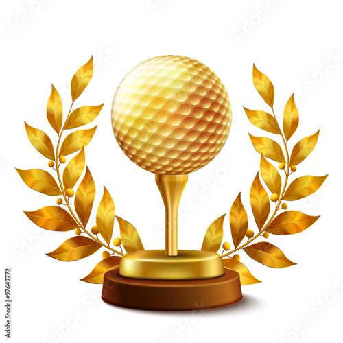 Fototapeta Golden golf award