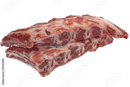Beef Meat. Raw Black Angus Marbled Beef Ribs Isolated Plakát