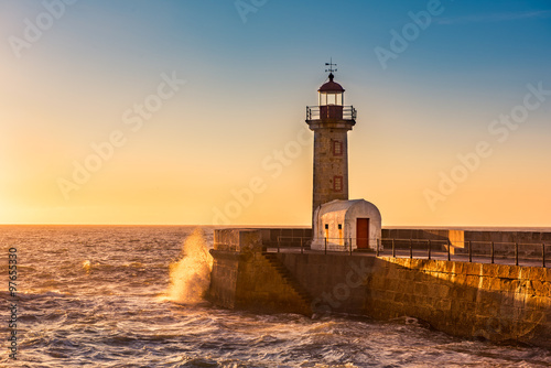 The lighthouse of Porto, Portugal - 97655330